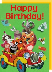 Collage Queen Car Birthday Card
