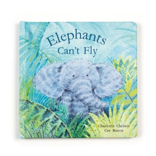 Jellycat Elephants Can't Fly Book