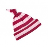 Bob and Blossom Red and Pink Striped Hat (6 - 12 months)