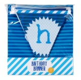 Talking Tables Blue Happy Birthday Bunting
