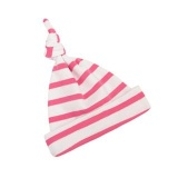 Bob and Blossom White and Pink Striped Baby Hat (6 - 12 Months)