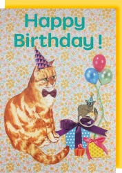 Collage Queen Cat Birthday Card