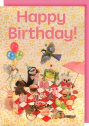 Collage Queen Picnic Birthday Card