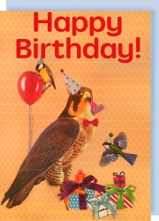 Collage Queen Hawk Birthday Card