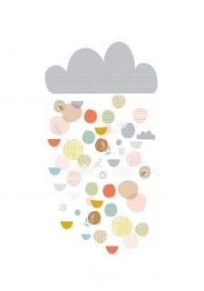 Paper Moon Rain Cloud Print (A3)