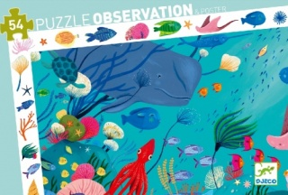 Djeco Aquatic Observation Puzzle 54 Pieces DJ07562