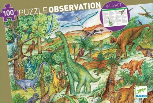 Djeco Dinosaur Observation Puzzle 100 Pieces Dj07424