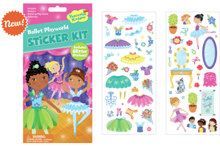 Peaceable Kingdom Ballet Playworld Sticker Kit