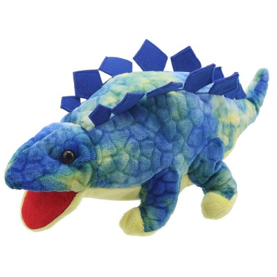 The Puppet Company - Baby Dino Stegosaurus Puppet (Blue)