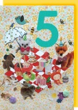 Collage Queen 5 Year Birthday Card - Picnic