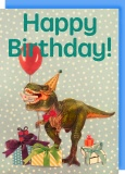 Collage Queen Dinosaur Birthday Card