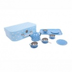 Bigjigs Blue Polka Dot Tin Tea Set