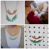 East London Baby Company Mint Teething Necklace