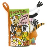 Jellycat Farm Tails soft book